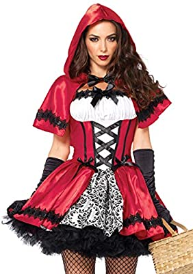 Leg Avenue Women's 2 Piece Gothic Red Riding Hood