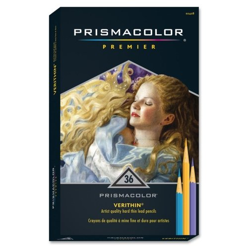 Prismacolor Verithin Colored Pencil - Assorted Lead - 36 / Set