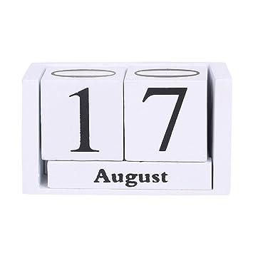 Symboat Vintage Holz Büro Ewiger Kalender Block 82168 Büro Permanent Agenda  Basteln