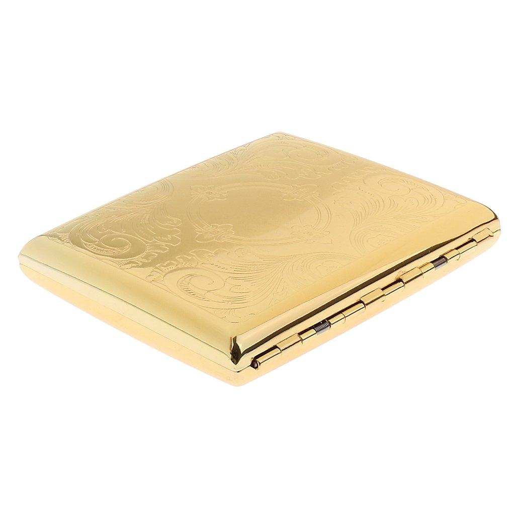 MagiDeal Golden Zigarettenschachtel, Zigarettenbox, Packungsetui, Zigarettenetui, Zigarettenhülle Zigarettenhülle