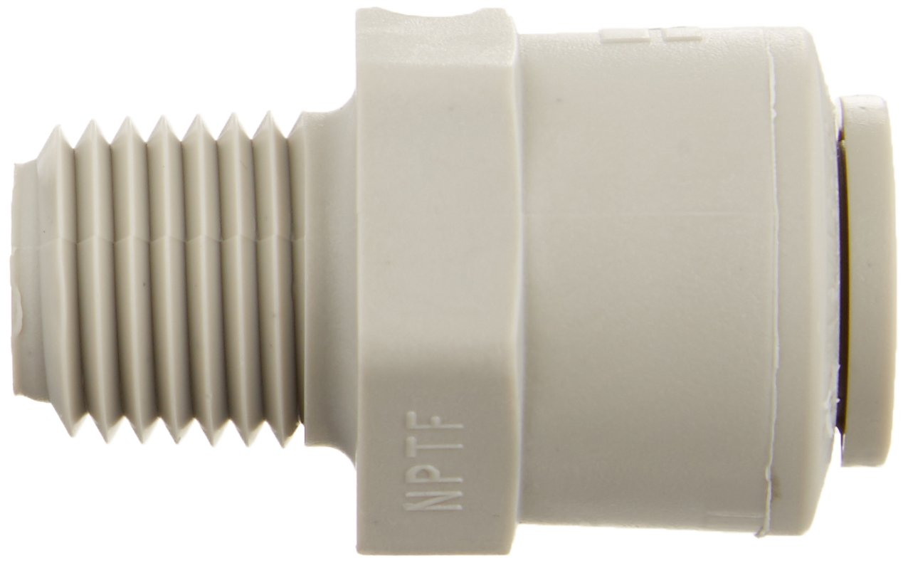 Acetyl Pack of 20 3//8 Push-to-Connect Tube x 1//4 Male NPTF Parker Hannifin A6MC4-MG-pk20 TrueSeal Male Connector Fitting with EPDM Seal Gray Acetyl 3//8 Push-to-Connect Tube x 1//4 Male NPTF Parker Hannifin Corporation