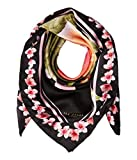 Ted Baker London Women's Peach Blossom Square Scarf, Black, One Size