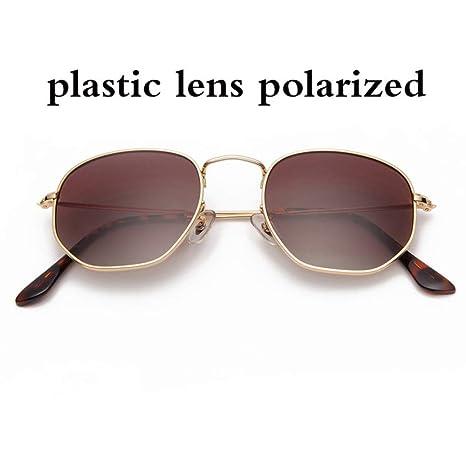 Yangjing-hl Gafas de Sol hexagonales polarizadas Mujeres ...