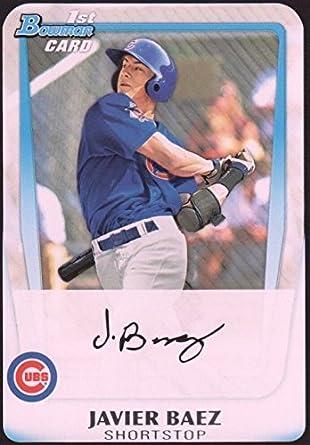 Javier Baez Baseball Card Chicago Cubs 2011 Topps Bowman Bdpp6 Rookie Card