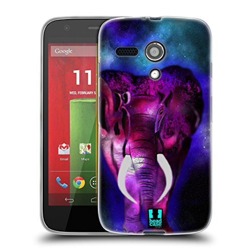 Head Case Designs Elephant Glow Soft Gel Case for Motorola Moto G (1st Gen) (Head Case Moto G)