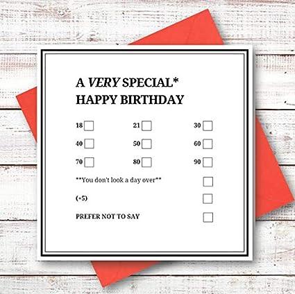 Tarjeta de cumpleaños número 18, 21, 30, 40, 50, 60, 70 ...