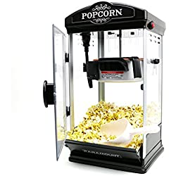 Popcorn Maker Machine by Paramount - New 8oz Capacity Hot-Oil Popper [Color: Black]