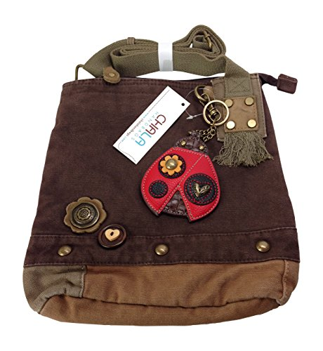 Brown Ladybug Dark Patch Crossbody Bag Chala UnWzaPc