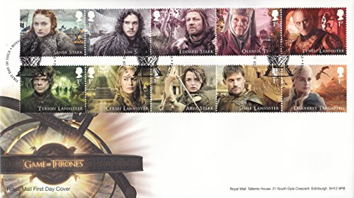Game of Thrones Stamp Souvenir Collectible Postage Stamps First Day Cover