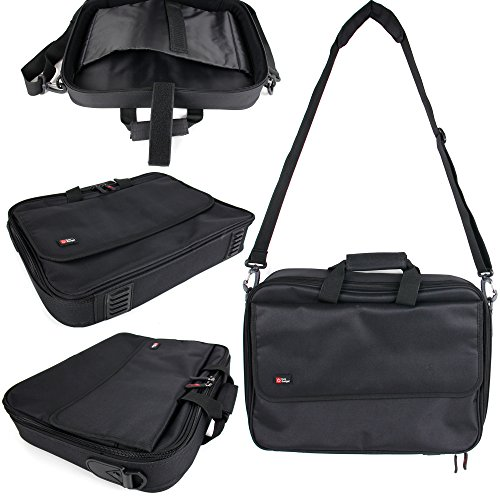 DURAGADGET's Premium Black Laptop Briefcase With Multiple...