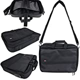 Black Laptop Briefcase Bag With Multiple Compartments for the Lenovo ThinkPad Edge E550 - by DURAGADGET