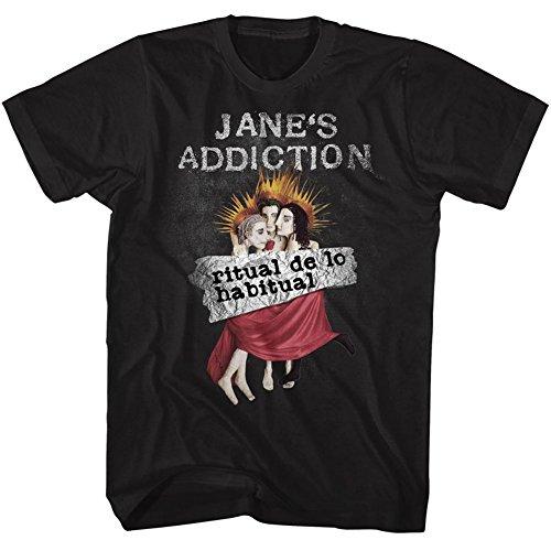 Men For Addiction (American Classics Janes Addiction Ritual De Lo Habitual Black Adult T-Shirt Tee)