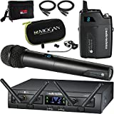Audio-Technica System 10 Pro Digital Wireless - Handheld and Mogan Lavalier Combination Microphone System Bundle