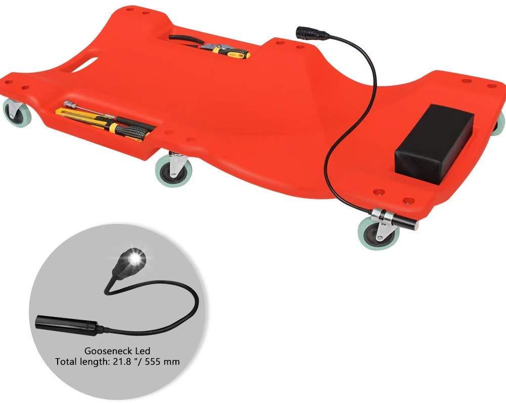 Blow Molded Ergonomic HDPE Body Car Creeper Board Plastic Creeper Automotive Repair Tool Roller Creepers