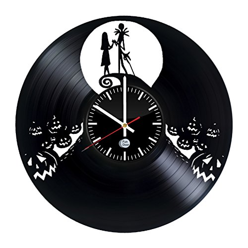 NIGHTMARE BEFORE CHRISTMAS Vinyl Record Wall Clock - Get unique nursery wall decor - Gift ideas for kids, boys and girls – Film Characters Unique Modern Art