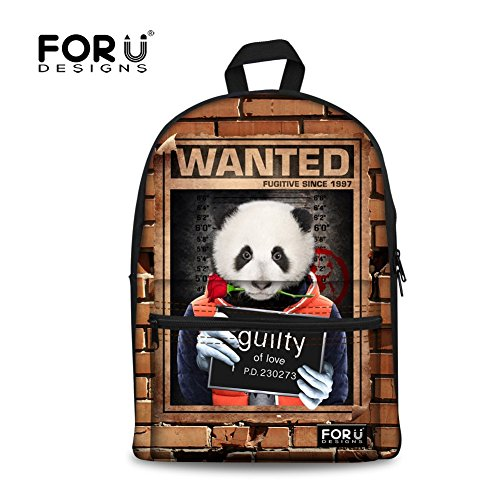 FOR U DESIGNS Fashion Guilty Panda Bite Rose Breathable Cotton Back Pack for Kid