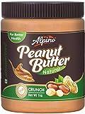 Alpino Natural Peanut Butter Crunch 1kg (Unsweetened / Gluten Free / Non-GMO)