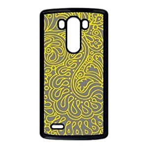 LG G3 Cell Phone Case Black Yellow Doodles SU4306133