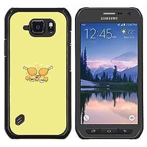 TECHCASE---Cubierta de la caja de protección para la piel dura ** Samsung Galaxy S6 Active G890A ** --Pollo Partido Nugget