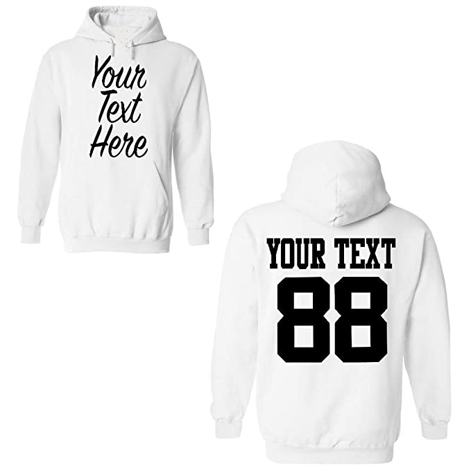 0a11de47 Amazon.com: Custom 2 Sided Hoodies, Create Your own Hoodie, Personalized  Sweatshirt: Clothing