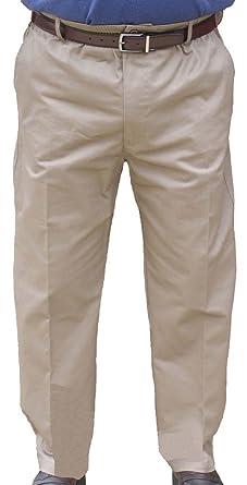 9c823a0daf8 Falcon Bay The Senior Shop Men s Full Elastic Waist Twill Pant with Zipper    Belt Loops