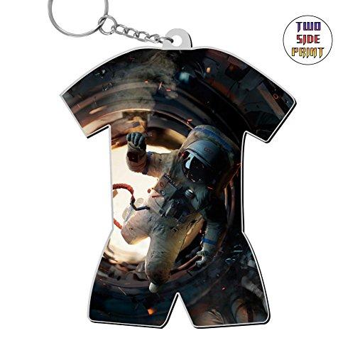 Neopolitan One Light - Zinc Alloy Metal Home Key Ring,Print Astronaut Space,Best Gift For Friends Men Women
