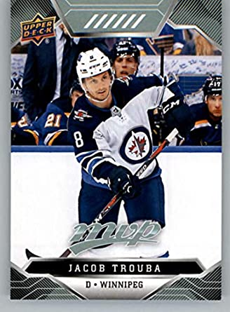online store 61c37 aa854 Amazon.com: 2019-20 UD MVP Hockey #78 Jacob Trouba Winnipeg ...