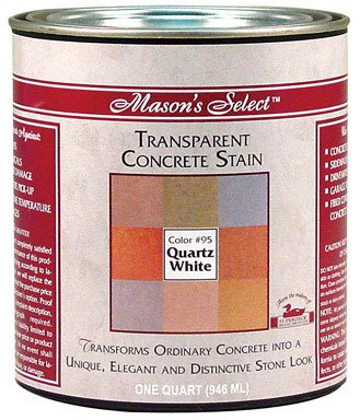 Mason'S Select Transparent Concrete Stain White 1 Qt