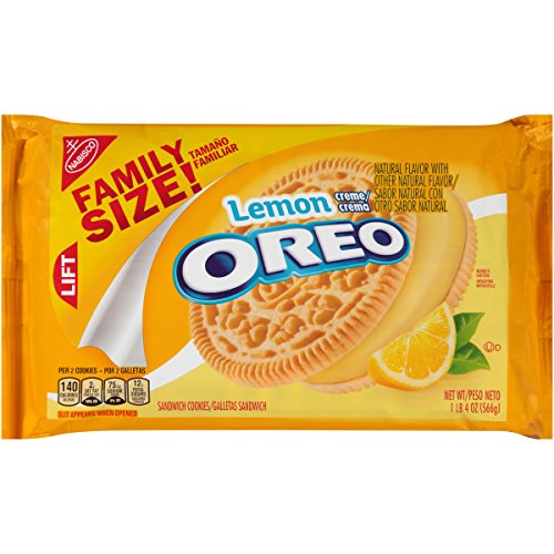 Oreo Lemon Creme Sandwich Cookies, 20 Ounce -