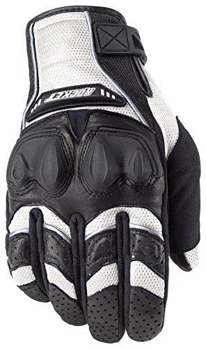 Mesh Glove Rocket Joe Black (Joe Rocket Men's Phoenix 4.0 Motorcycle Riding Gloves (White/Black/White, Large))