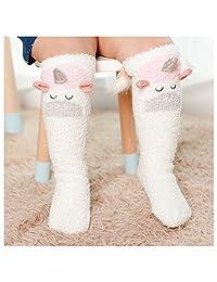 2017 Christmas Warm Anti-Slip Socks Coral Velvet Knee High Stockings for Children