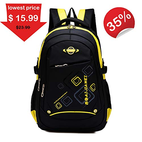 Clearance Sale! School Backpack for Girl, Waterproof Bookbags for Kids Student Children by Ellien (Yellow)