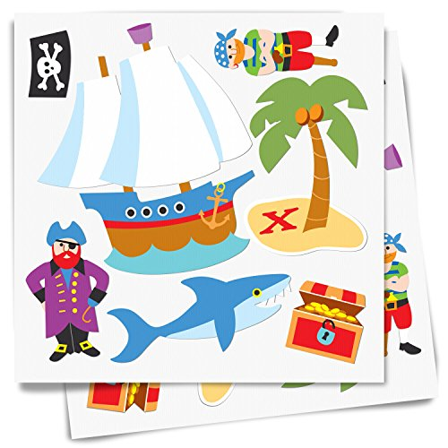 Olive Kids Pirates Peel and Stick Wall Decal Cut Outs