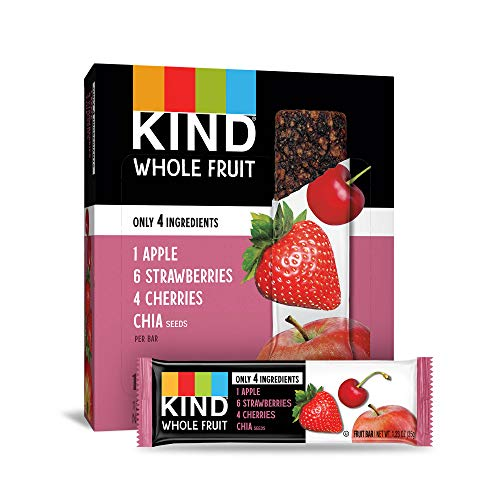 KIND Whole Fruit Bars, Strawberry Apple Chia, No Sugar Added, Gluten Free, (formally known as Pressed), 1.2 Ounce (12 Count) (Sour Fruit Roll Up)