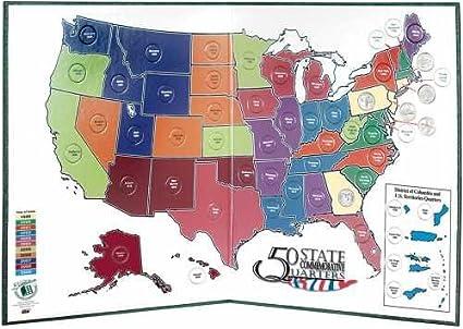Littleton 50 State Quarter Display Map Folder on