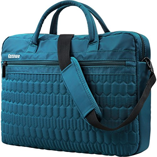 Laptop Bag, KEEPWE Water Resistant Lightweight Nylon Laptop Messenger Shoulder Bag for Women, Men, Work, College, Carrying Laptop Briefcase for Women Men (Blue)