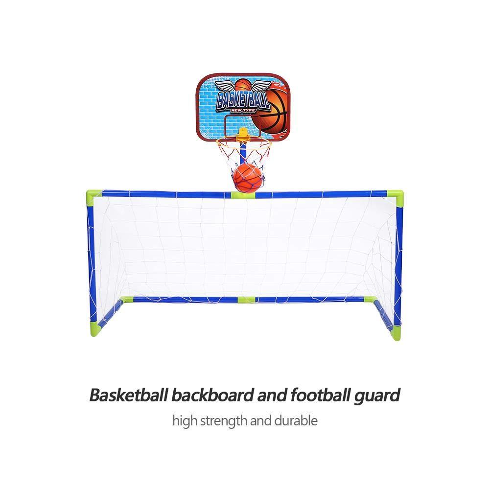 489fba18eeb0a Mini Football Basket Set 2 en 1 Cage But de Football Filet Panier Panneau  Ballons Pompe Gonfleur Kit Jouet de Balles Jeux de Jardin Intérieur  Extérieur ...