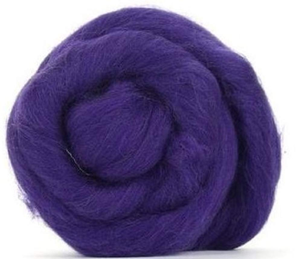 4 oz Paradise Fibers 64 Count Dyed Amethyst Merino Top Spinning Fiber Luxuriously Soft Wool Top Roving for Spinning with Spindle or Wheel Felting Purple Blending and Weaving