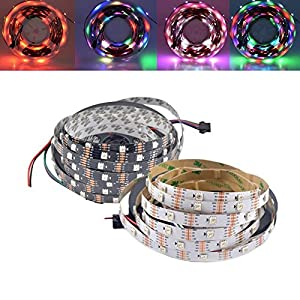 Led Strip Lights - 1m 5m Ws2813 Rgb Dream Color Non-Waterproof Led Pixel Strip Light For Holiday Party Decor Dc5v - Non Waterproof Led Strip Light Tape 5050 Multi Color Multicolor - 1PCs