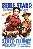Belle Starr Poster Movie B 11x17 Randolph Scott Gene Tierney Dana Andrews Shepperd Strudwick