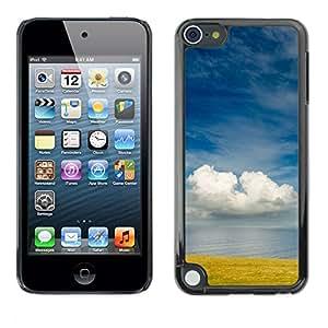 [Neutron-Star] Snap-on Series Teléfono Carcasa Funda Case Caso para Apple iPod Touch 5 [Campo Mar Naturaleza nubla el cielo azul]