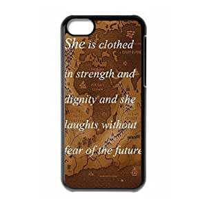 Durable Rubber Cases iPhone 5C Cell Phone Case Black Dgvpy Quotes Protection Cover
