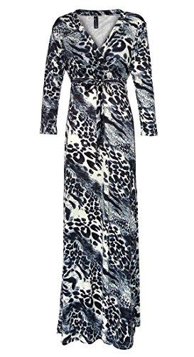 long black and leopard print dress - 7