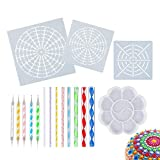 Introduction: Our Making  Mandala Tool Set made of quality plastic and stainless steel, durable and cut precisely, sturdy and rust-proof, ensure long time of usage 8 acrylic rods and 5ball stylus dotting pen in different diameters. Each ball stylus d...