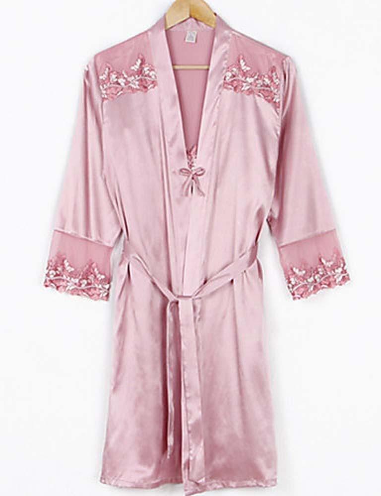 WWQY Women Silk Pajama , blushing pink , l