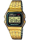 Casio Collection Unisex-Uhr Digital mit Edelstahlarmband – A159WGEA-1EF