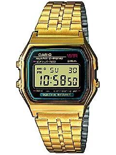 casio collection men s watch grey digital display and casio men s watch a159wgea 1ef