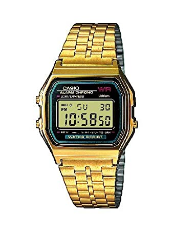 Casio Collection Reloj Digital Unisex con Correa de Acero Inoxidable – AWGEA