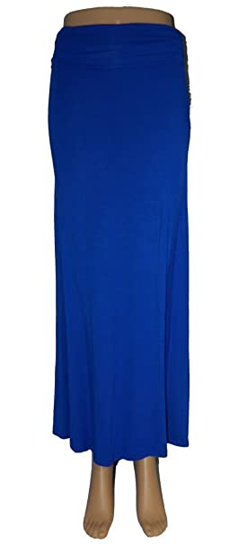 68fa965c96e8d Azules Women S Rayon Span Regular to Plus Size Maxi Skirt - Solid at ...