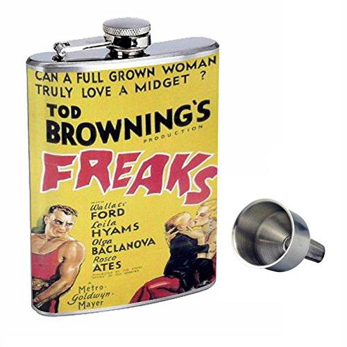 【現品限り一斉値下げ!】 Freaks Tod Tod Browning 1932 Film、Perfection inスタイル8オンスステンレススチールWhiskey 1932 Flask Flask with Free Funnel d-405 B015QLFQJM, へらへとかさい:762fe8bc --- xienttechnologies.com
